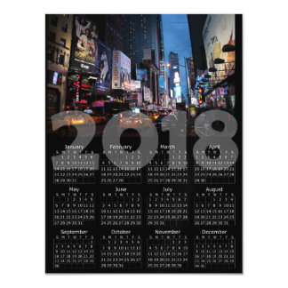 2018 Calendar Magnetic New York City Card