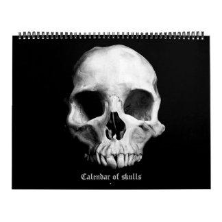 2018 Calendar of skulls