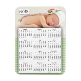 2018 Calendar Personalised baby Photo Magnet