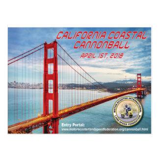 2018 California Coastal Cannonball Postcard