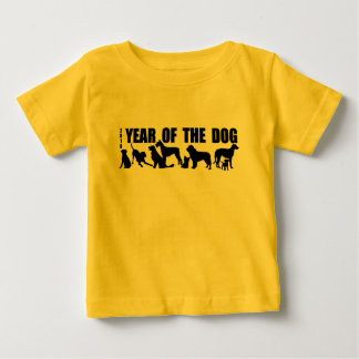 2018 Chinese New Year of The Dog Baby Yellow Tee