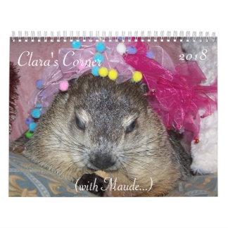 2018 Clara's Corner Groundhog Calendar A