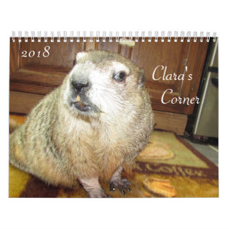 2018 Clara's Corner Groundhog Calendar B