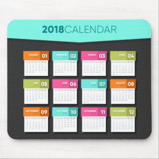 2018 Colorful Calendar | Mousepad