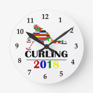 2018 CURLING ROUND CLOCK