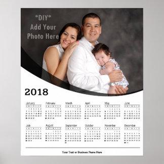 2018 DIY Custom Photo Calendar Poster