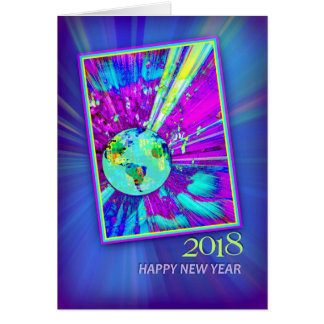 2018 Earth & Galaxy for New Year's Day Card