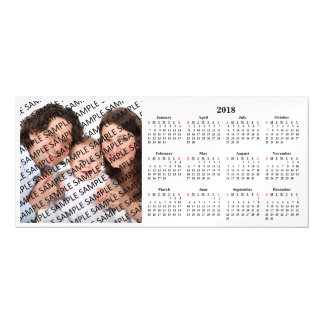 2018 Family Photo Custom Calendar Magnetic Card