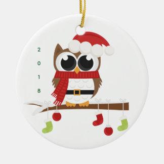 2018 festive owl ornament (Merry Christmas!)