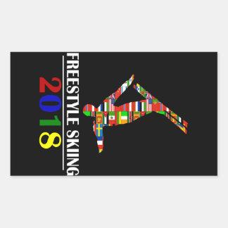 2018 FREESTYLE SKIING RECTANGULAR STICKER
