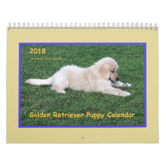 2018 Golden Retriever Puppy Calendar