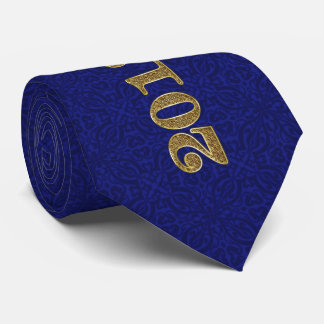 2018 Graduate in Royal Blue and Gold Damask Tie