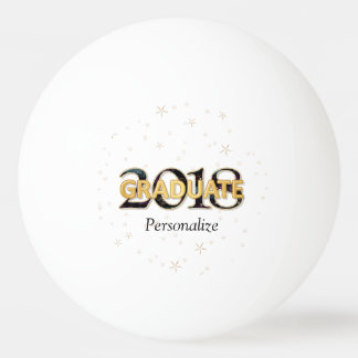 2018 Graduate Typography with Gold Stars Fireworks Ping Pong Ball