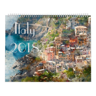 2018 Italy Art Watercolor Calendars