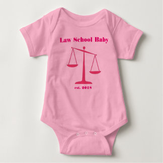 2018 Law School Baby Romper (Pink Ink) Baby Bodysuit