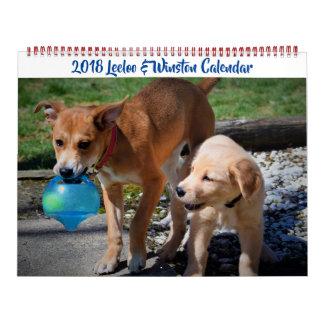 2018 Leeloo & Winston Large 2 Page Calendar