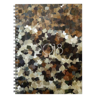 2018 Leopard Style Brown Black Mosaic Pattern Notebook