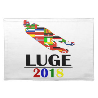 2018 LUGE PLACEMAT