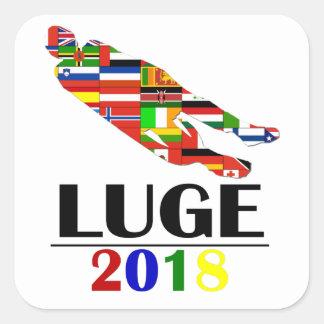 2018 LUGE SQUARE STICKER