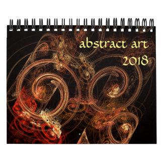 2018 Modern Abstract Art Calendar