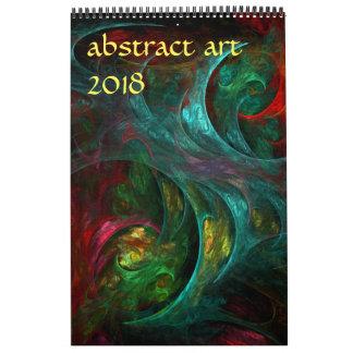 2018 Modern Abstract Art Calendars