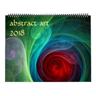 2018 Modern Abstract Art Wall Calendar