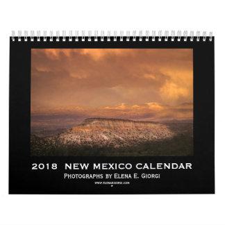 2018 New Mexico Calendar