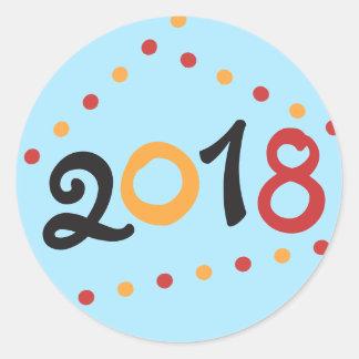 2018 New Years Classic Round Sticker