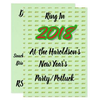 2018 New Year's Party/Potluck Invitation