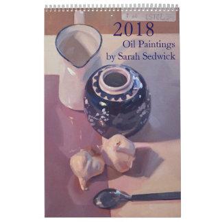 2018: Paintings by Sarah Sedwick Calendar