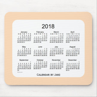 2018 Peach Puff Calendar by Janz Mousepad