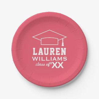 2018 Personalized Graduation Plates   Pink