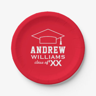2018 Personalized Graduation Plates   Red