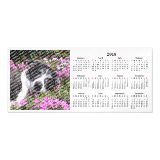2018 Pet Portrait Custom Calendar Magnetic Card
