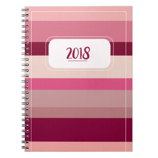 2018 Pink Striped Notebook
