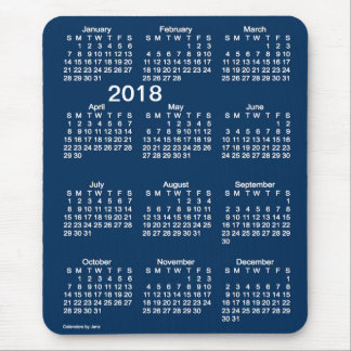 2018 Police Box Blue Large Print Calendar by Janz Mouse Pad