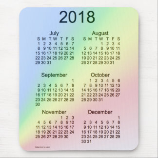 2018 Rainbow Large Print 6 Month Calendar by Janz Mouse Pad