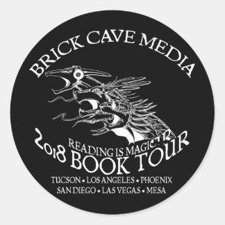 2018 Reading is Magic Book Tour Black Sticker