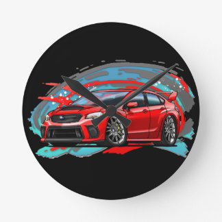2018_Red_WRX Round Clock