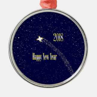 2018 Rising Star Metal Ornament