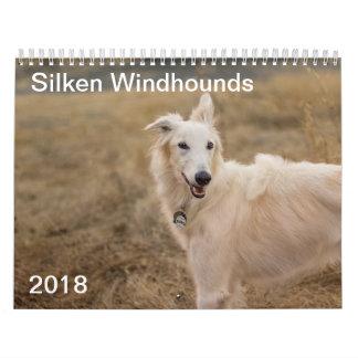 2018 Silken Windhounds (Full body) 3 Wall Calendars