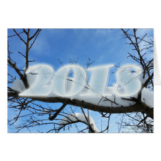 2018 Snow on branches Card