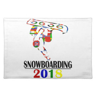 2018 SNOWBOARDING PLACEMAT