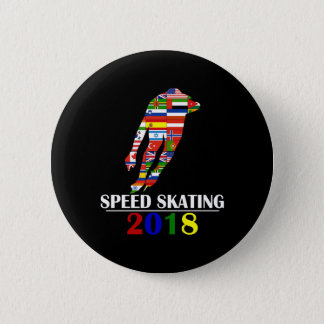 2018 SPEED SKATING 6 CM ROUND BADGE