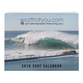 2018 Surf Calendar - USA version