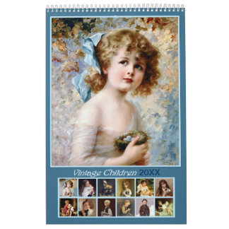 2018 Vintage Children Wall Calendar