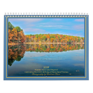2018 Walden Pond and Beyond: with quotes Wall Calendars