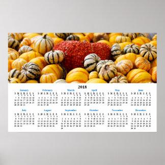 2018 Wall Calendar Pumpkin Patch Poster