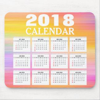 2018 Watercolor Calendar | Mousepad