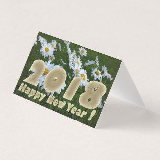 2018 white daisies card